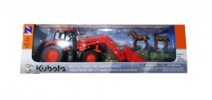 Giocattolo Kubota M5111 con caricatore frontale e animali